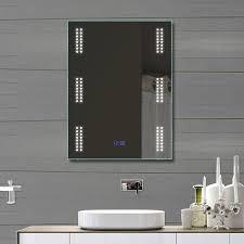 Badspiegel Led Rund Runder Spiegel Mit Beleuchtung Neu Led Badspiegel