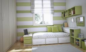 Bedroom Small Bedroom Decorating Idea For Teenage With Green And