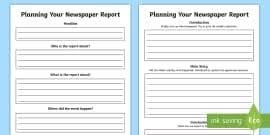 Write Your Own Newspaper Article Template Newspaper Report Examples Resource Pack Primary Resources