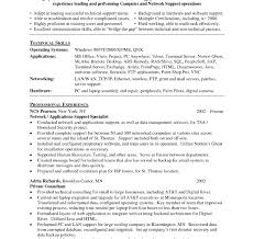 Application Support Engineer Sample Resume Sensational Resume Format For Desktopupport Engineer Experienced One 1