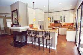 Concrete Floors Kitchen Stained Concrete Floors Beautiful Remodel