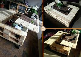 coffee table ideas and free plans with instructions lift top pallet organizer tray