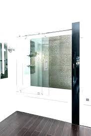 tub shower door with mirror glass