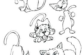 Free Coloring Pages Dogs Of A Dog Cute Cats And Cat