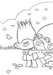 Trolls Movie Color Troll Coloring Pages Printable Intended For Free