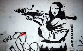 "essay modern art and its artists another banksy edition of the ""mona lisa"" titled ""mona lisa bazooka"""