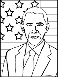 Small Picture Barack Obama Coloring Page fablesfromthefriendscom