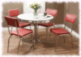 retro style furniture cheap. 1950s Style Retro Dining Set - Formica Table \u0026 4 Red Vinyl Chairs Furniture Cheap T