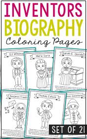 Inventors Coloring Pages Stem Steam Craft Activities Sarah E Goode