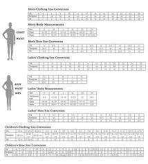 Ladies Clothes Conversion Chart Size Chart Oasislync