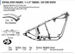 custom bobber motorcycle frames. SOFTAIL STYLE FRAME 1.25 TUBING/ 200 REAR TIRE Custom Bobber Motorcycle Frames B