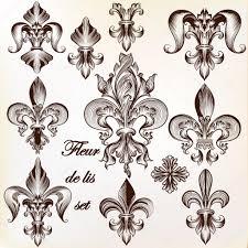 королевская лилия тату коллекция векторных королевской флер де лис