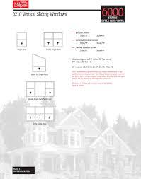 Milgard Style Line Series Vinyl Window 3 Part Specification