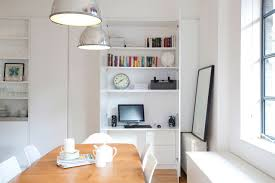 hidden home office. hideaway home office in a immaculate white stark small space interior design hidden