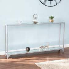silver console tables accent tables
