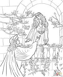 Romeo Say To Juliet On The Balcony Super Coloring Romeo Juliet