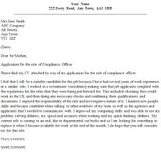 Compliance Officer Cover Letter Sample Lettercv Com