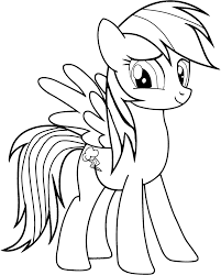 Coloring Pages My Little Pony Rainbow Dashlll