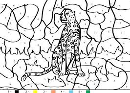 Small Picture Animal Color By Number Coloring Pages Tiger 9198 Bestofcoloringcom