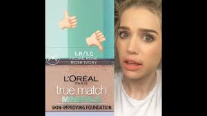 l oréal true match mineral foundation review so disappointed