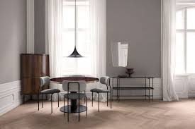 gubi 2 0 round dining table glass from gubi