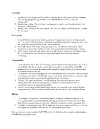 Example Swot Analysis Paper Classy Example Swot Analysis Paper