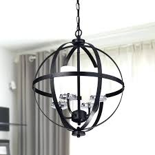 orb chandelier with crystals antique black iron orb chandelier with glass globe free with regard to orb chandelier with crystals