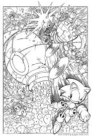 Small Picture Sonic the Hedgehog color page Coloring pages for kids Cartoon