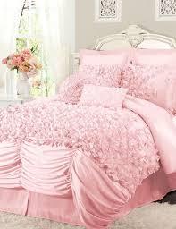 Enchanting Light Pink Ruffle Bedding Wonderful Home Design Ideas