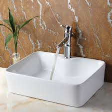 bathroom sink. Ceramic Rectangular Vessel Bathroom Sink E