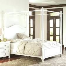 Full Size White Wood Canopy Bed Beds House Thinking Modern Metal By ...