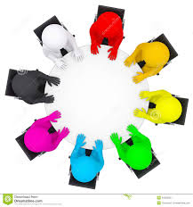 round table clipart top view. multicolored people sitting at a round table illustration 34303556 megapixl clipart top view i