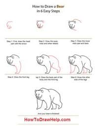 learn how to draw a bear step by step tutorial for kids bear drawingdrawing