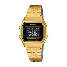 casio watches modern classic watches h samuel casio men s yellow gold plated digital watch product number 2401169