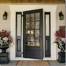 black front door with sidelightsCreative Home Expressions Paint the Sidelights or Not