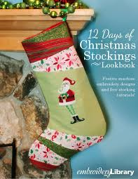 Embroidery Library Christmas Designs Embroidery Library 12 Days Of Christmas Stockings Lookbook