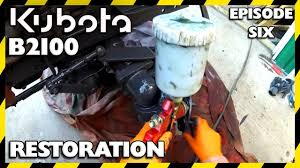 kubota b2100 compact tractor restoration episode six painting you
