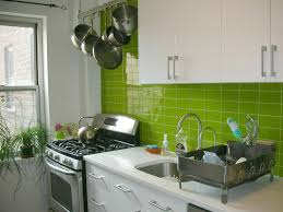 Image of: Lime Green Glass Tile Kitchen Backsplash