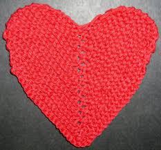 Knitted Heart Pattern Amazing Heart Shaped Cloth Knitting Pattern
