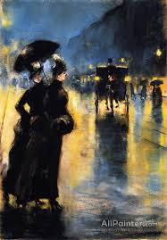 lesser ury paintings for night lights