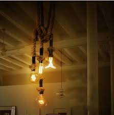 swag pendant light. Kiven Rope Pendant Light Chandelier Manila Hemp Swag Ceiling Lamp Industrial American Country Retro DIY Lights Fixture, Lighting - Online