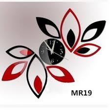 airyclub big flower wall clock modern