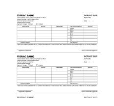 37 Bank Deposit Slip Templates Examples Template Lab