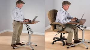 sit to stand workstation height adjule sitting standing desk you