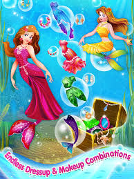 mermaid princess makeover dress up makeup ecard maker game on the app