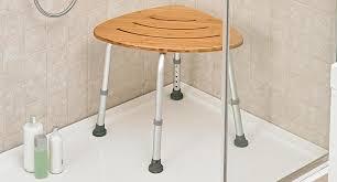 deluxe bamboo bath stool