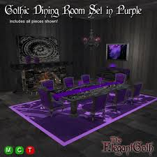 purple furniture. Gothic Dining Room Set In Purple : Furniture For The