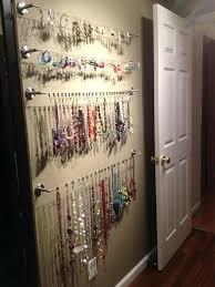 hanging necklace organizer jewelry organizer hanging closet inspired decor wall hardware and walls 2 hanging jewellery hanging necklace organizer