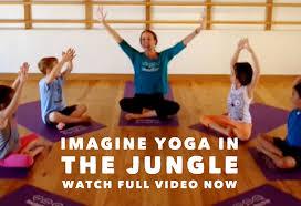 imagine yoga in the jungle