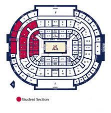 Arizona Mckale Center Seating Chart 57 Punctual Mckale Seating Chart